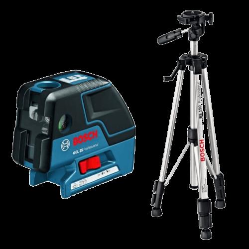 BOSCH GCL 25 + BS 150 Professional točkasti laser + građevni stativ