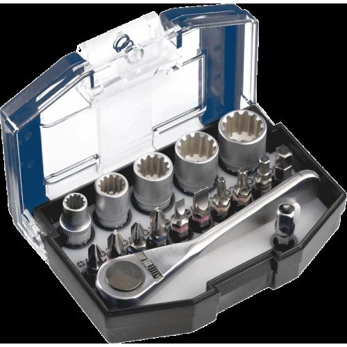 KWB 17-dijelni set nasadnih ključeva - gedora i nastavaka za odvijač (118900)