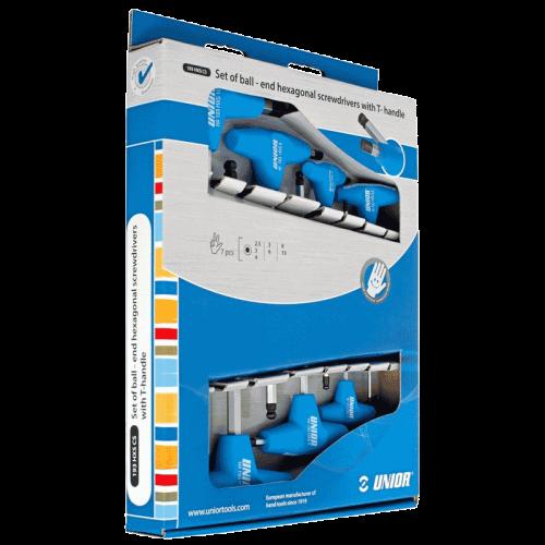 Unior 193HXSCS 7-dijelni set imbus ključeva sa T ručicom (609337)