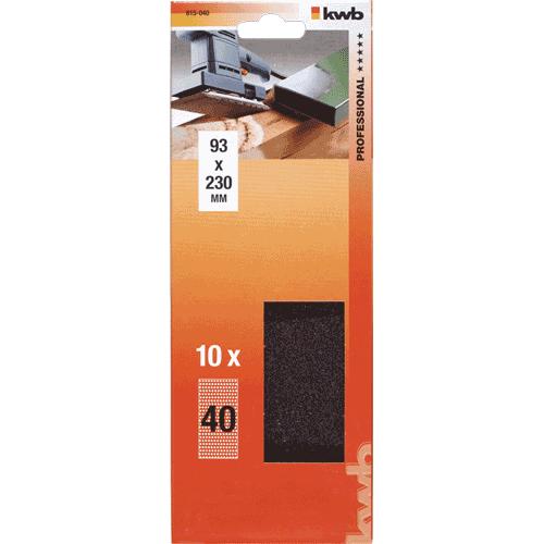 KWB brusni papir za drvo - metal 93 x 230 mm GR 240 10/1 (815240)