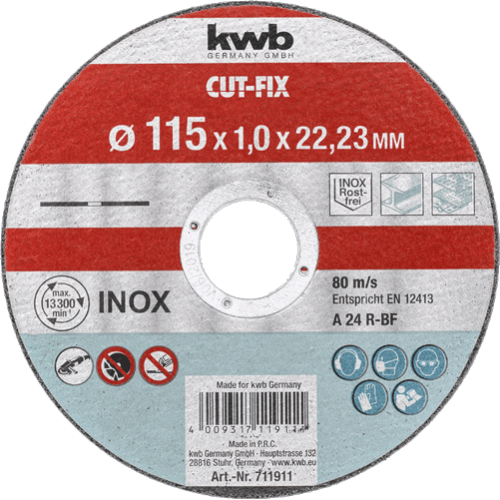 KWB Cut-Fix rezna ploča za Inox 115 x 1 mm (711911)