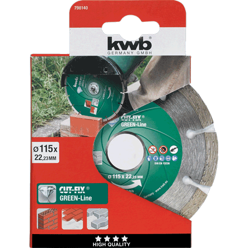 KWB Cut-Fix Green-Line dijamantna rezna ploča za beton 115 mm (798140)