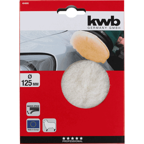 KWB samoljepiva krpa za poliranje 125 mm (484600)