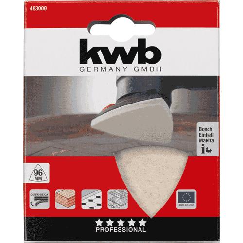 KWB samoljepivi filc za poliranje trokutni 96 mm (493000)