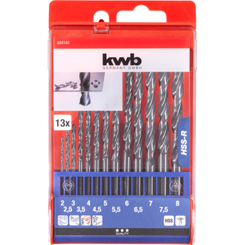 KWB set HSS borera - svrdla za metal 2-8 mm 13/1 (424140)