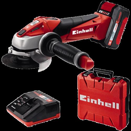 Einhell TE-AG 18/115 Li Kit Power X-Change akumulatorska kutna-ugaona brusilica