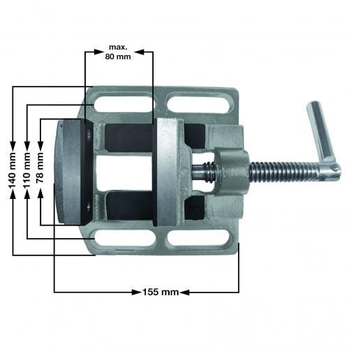 Einhell škripac 75 mm za stupne bušilice (4225706)