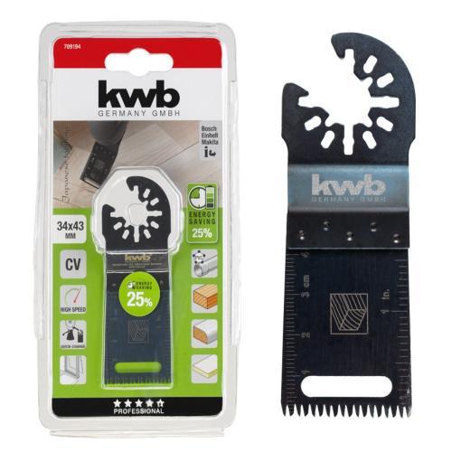 KWB AKKU nož za rezanje drveta/laminata/plastike (japanska oštrica) 34 mm (709194)