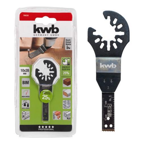 KWB nož Bi-metal za rezanje drveta/plastike/metala/aluminija 10 mm (709250)