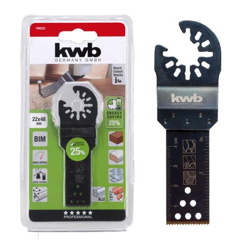 KWB nož Bi-metal za rezanje drveta/plastike/metala/aluminija 22 mm (709252)
