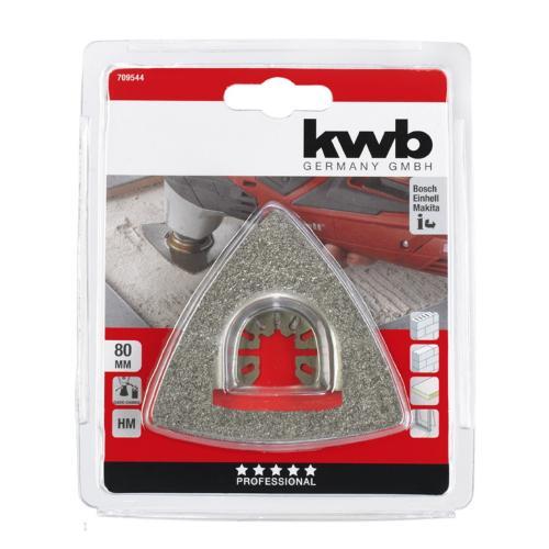 KWB trokutasta turpija HM za skidanje maltera/kamena/drveta 80 mm (709544)