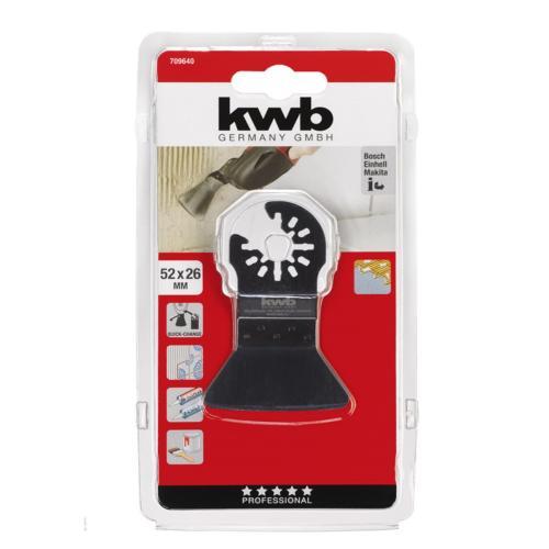 KWB tvrdi alat za struganje - odstranjivanje ljepila/maltera/tepiha 52 mm (709640)
