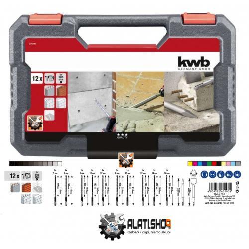 KWB set SDS Plus borera i dlijeta 12 kom u PVC kovčegu (240290)