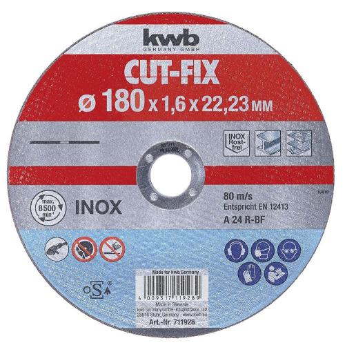 KWB Cut-Fix rezna ploča za Inox 180 x 1.6 mm (711928)