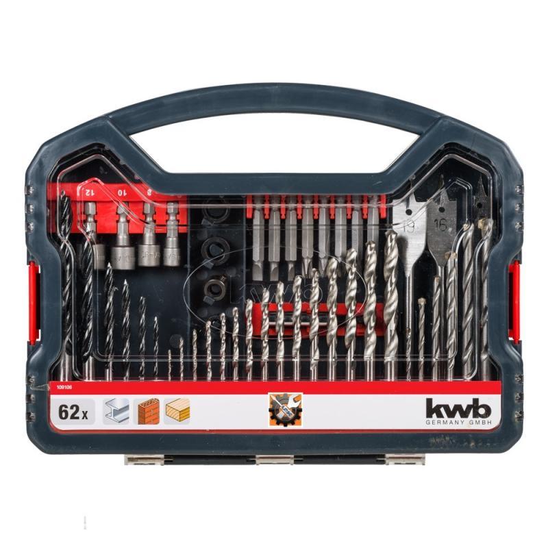 KWB svrdla, bitovi i nasadni ključevi set 62/1 (109106)