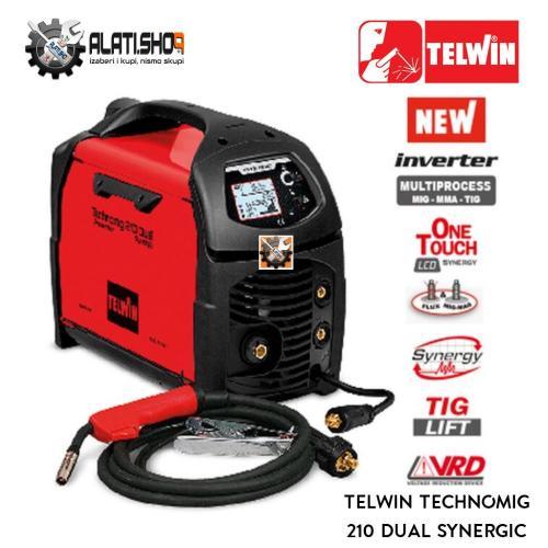 Telwin Technomig 210 Dual Synergic MIG/MAG/FLUX inverter za varenje (816055)