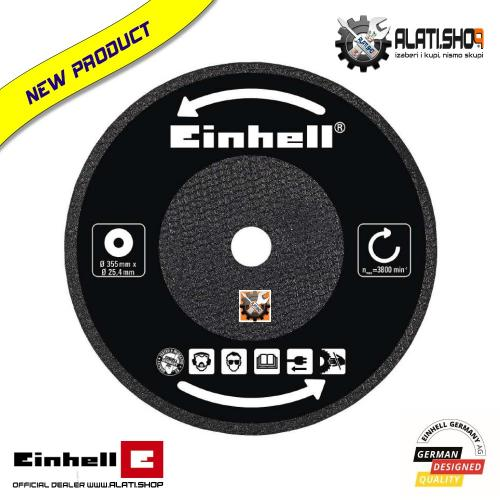 Einhell rezni list za metal 355 x 25,4 x 3,2 mm za TC-MC 355 (4502024)