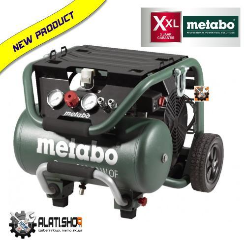 Metabo Power 250-10 W OF kompresor klipni bezuljni 10 L (601544000)