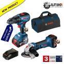 Bosch PRO MIX aku bušilica izvijač GSR 18V-50 i kutna brusilica GWS 18-125 V-Li