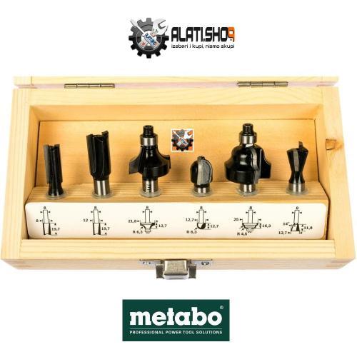 Metabo glodala frezer kroner za drvo prihvat 8 mm set 6/1 (631040000)