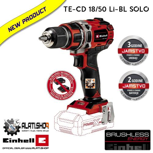 Einhell TE-CD 18/50 Li-Solo Power X-Change akumulatorska bušilica (4513887)