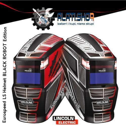Lincoln Weldline Eurospeed LS / BlackRobot Edition maska za varenje automatska (W000403824-1)