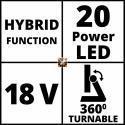 Einhell TE-CL 18/2000 Li AC-Solo Power X-Change akumulatorska svjetiljka (4514114)