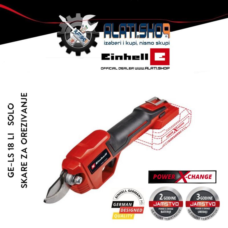 Einhell GE-LS 18 Li - Solo Power X-Change akumulatorske škare makaze za orezivanje (3408300)