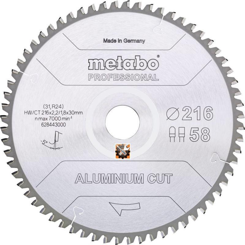 Metabo rezni list Aluminium Cut 216×2,2×30/Z58 FZ/TZ 5°NEG (628443000)