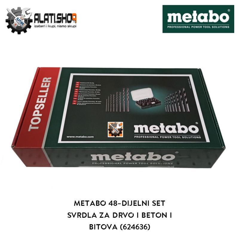 Metabo 48-dijelni set svrdla za drvo, beton i bitova (624636)