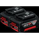BOSCH 18 V / 4.0 Ah Professional 2x Li-Ion akumulator